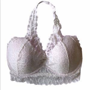 Victoria's Secret White Lace Halter Bralette
